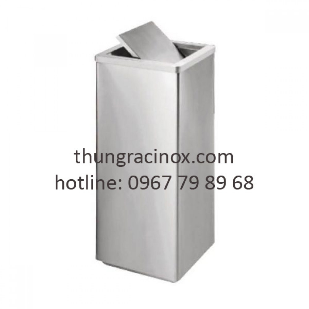 Thùng rác inox nắp lật A34-F
